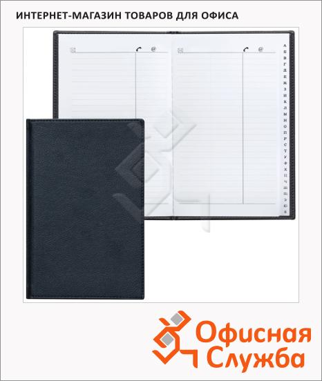 фото: Телефонная книга Brauberg Favorite А5 96 листов, кожзам, черная