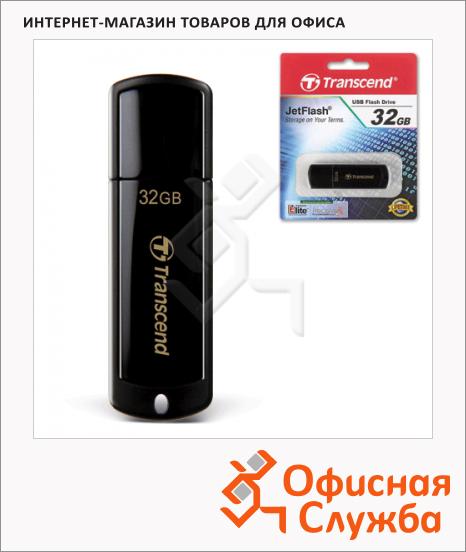 Флеш-накопитель Transcend JetFlash 350 32Gb, 15/11 мб/с, черный