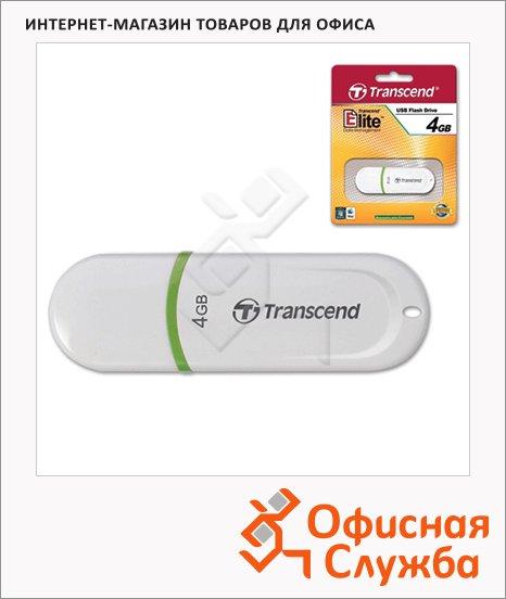 Флеш-накопитель Transcend JetFlash 330 4Gb, 15/4 мб/с, бело-зеленый