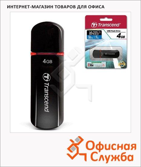 фото: Флеш-накопитель Transcend JetFlash 600 4Gb 32/16 мб/с, черно-красный