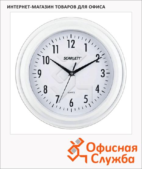 Часы настенные Scarlett SC-55QG белые, d=30см, круглые