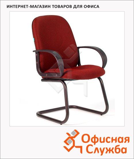 Кресло посетителя Chairman 279 V ткань, JP, на полозьях, красная