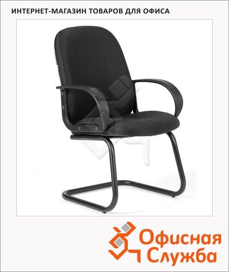 Кресло посетителя Chairman 279 V ткань, JP, на полозьях, черная