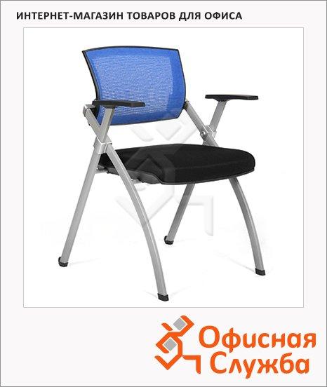 Кресло посетителя Chairman NEXX ткань, на ножках, синяя