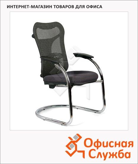 фото: Кресло посетителя Chairman 426 ткань серая, TW, на полозьях