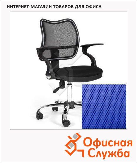 фото: Кресло офисное Chairman 450 ткань TW, крестовина хром, синяя
