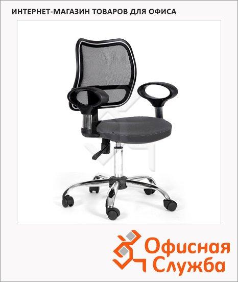 фото: Кресло офисное Chairman 450 ткань TW, крестовина хром, серая