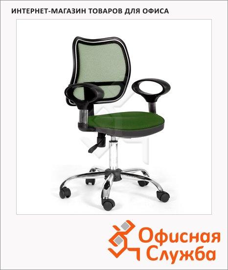 Кресло офисное Chairman 450 ткань, TW, крестовина хром, зеленая