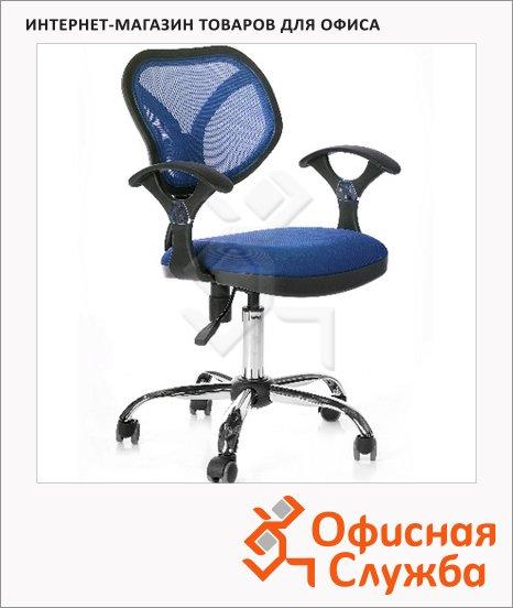 фото: Кресло офисное Chairman 380 ткань TW, крестовина хром, синяя
