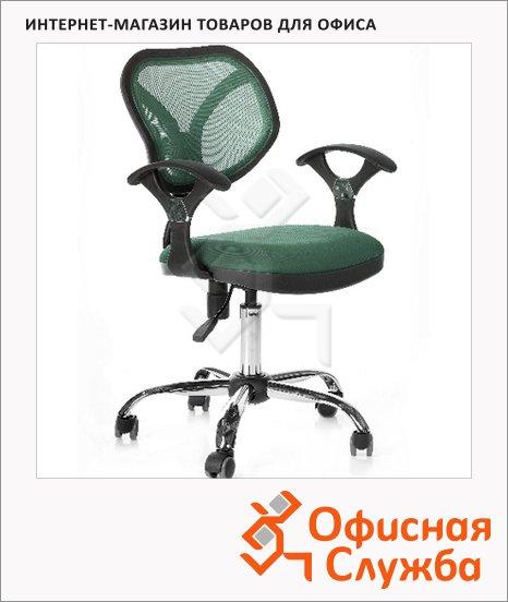 фото: Кресло офисное Chairman 380 ткань TW, крестовина хром, зеленая
