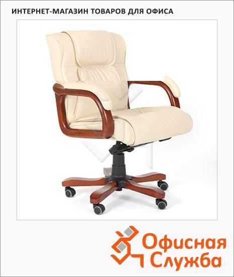 Кресло руководителя Chairman 653-M нат. кожа, светлый орех