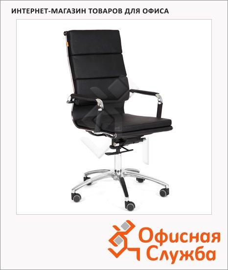 фото: Кресло руководителя Chairman 750 иск. кожа крестовина хром, черная