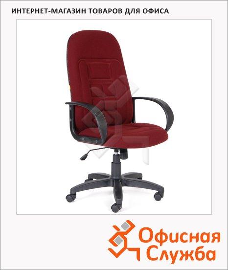 Кресло руководителя Chairman 727 ткань, крестовина пластик, бордовая