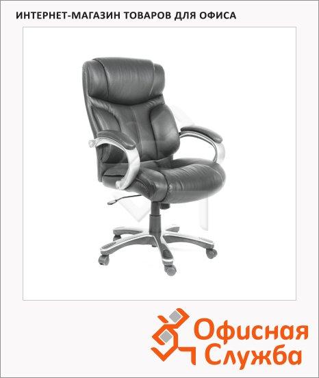 Кресло руководителя Chairman 435 нат. кожа, крестовина пластик, серая