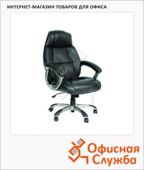 фото: Кресло руководителя Chairman 436 нат. кожа крестовина пластик, серая