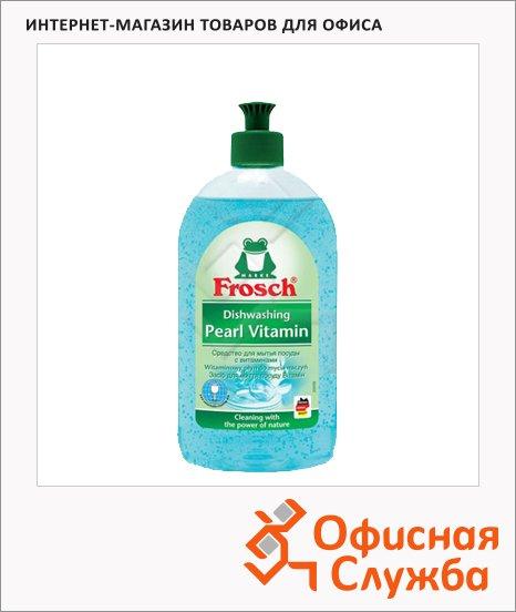 Средство для мытья посуды Frosch 500мл, витамины для рук, гель
