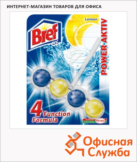 фото: Освежитель для унитаза Bref Сила-актив лимон подвесной блок, 51г