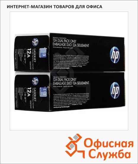Тонер-картридж Hp Q2612AF, черный, 2шт/уп