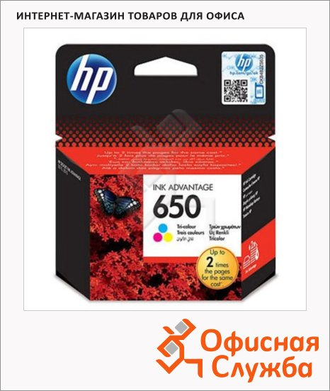фото: Картридж струйный Hp 650 CZ101AE черный