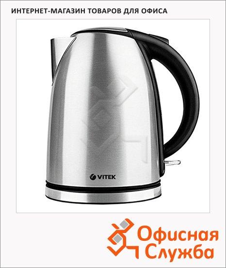 Чайник электрический Vitek VT-1169 металлик, 1.8 л, 2200 Вт