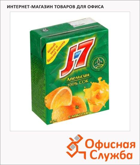 Сок J-7 апельсин, 0.2л х 6шт