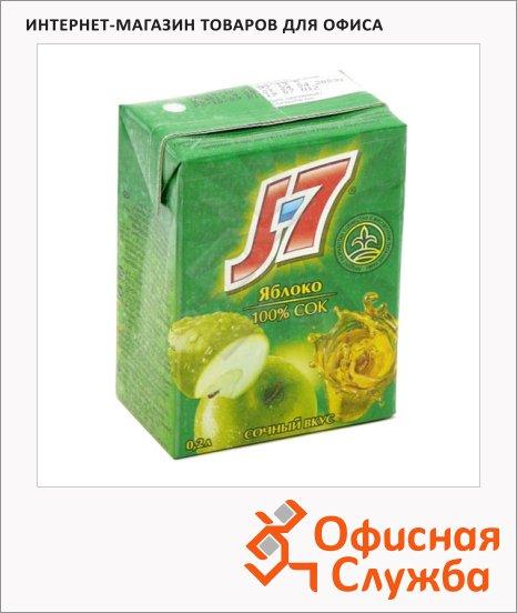 Сок J-7 зеленое яблоко, 0.2л х 6шт