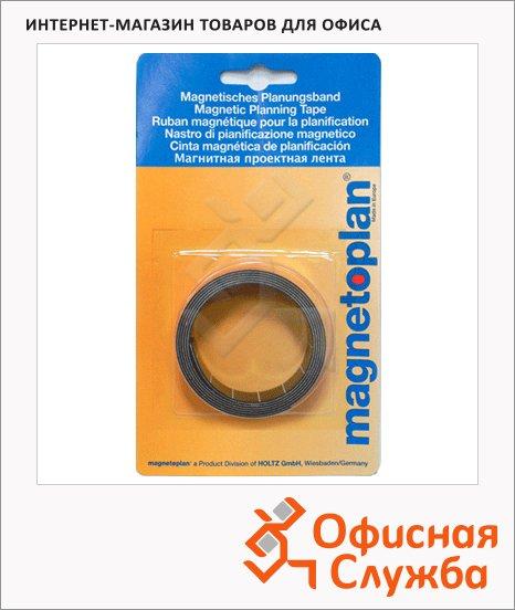 Лента магнитная для магнитной доски Magnetoplan 1мх10мм, желтая, 1261502