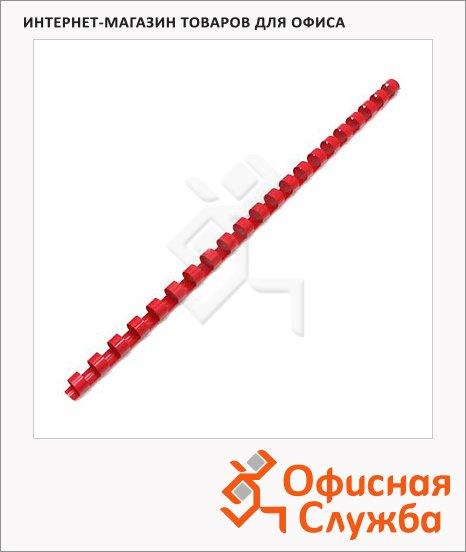 фото: Пружины для переплета Office Kit, пластик, Ø 6 мм, красные