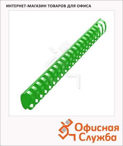 фото: Пружины для переплета пластиковые Office Kit зеленые на 300-350 листов, овал, 38мм, 50шт, REX45595