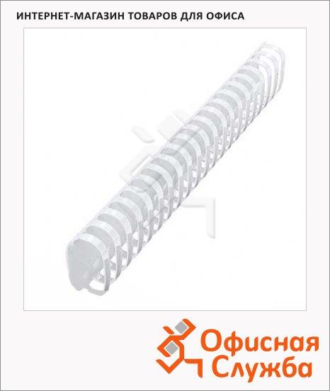 Пружины для переплета пластиковые Office Kit белые, на 300-350 листов, овал, 45мм, 50шт, BP2121