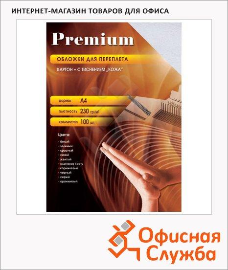 фото: Обложки для переплета картонные Office Kit CYA400235 белые А4, 230 г/кв.м, 100шт, CWA400230