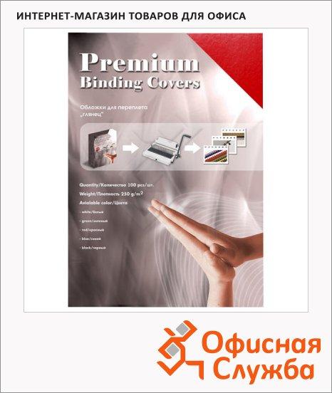 Обложки для переплета картонные Office Kit GWA400250 красные, А4, 250 г/кв.м, 100шт,