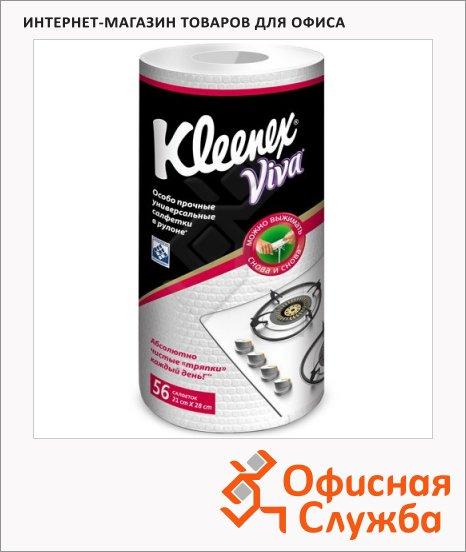 фото: Салфетка хозяйственная Kleenex Kleenex Viva универсальная 22х28см, полипропилен, 56шт/уп, в рулоне