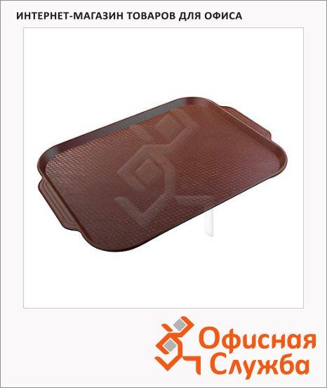 Поднос для фаст-фуда Horeca коричневый, 45х35.5см