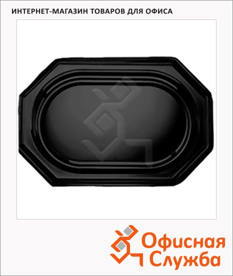 фото: Блюдо одноразовое Sabert Mozaik черное 46х30см, 10шт/уп