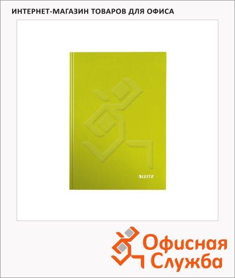 Тетрадь общая Leitz Wow зеленый, А5, 80 листов, в клетку, на сшивке, ламинированный картон, 46281064