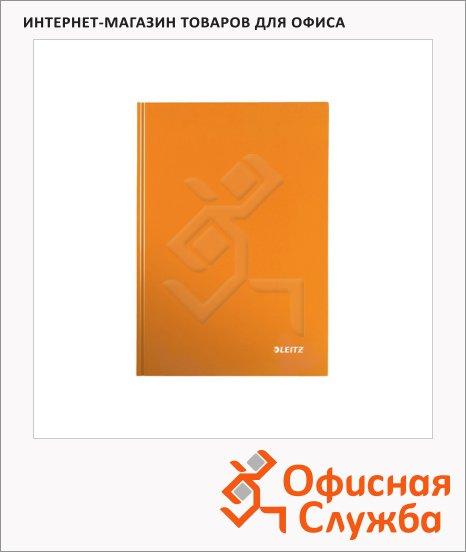 фото: Тетрадь общая Leitz Wow оранжевый А5, 80 листов, в клетку, на сшивке, ламинированный картон, 46281044