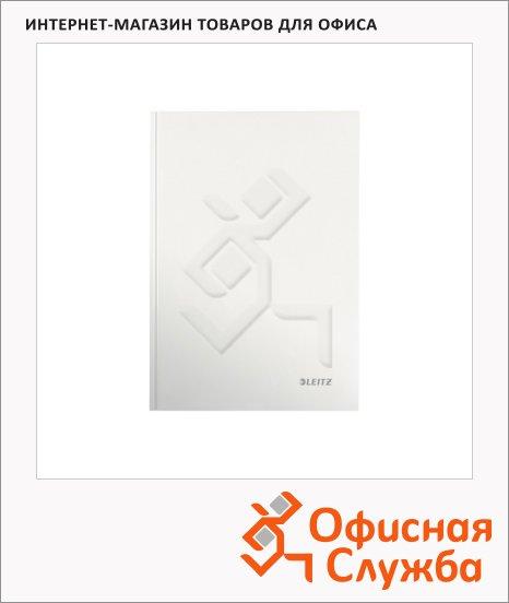 Тетрадь общая Leitz Wow белый, А5, 80 листов, в клетку, на сшивке, ламинированный картон, 46281001