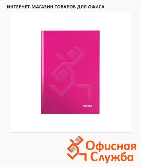 Тетрадь общая Leitz Wow розовый, А5, 80 листов, в клетку, на сшивке, ламинированный картон, 46281023