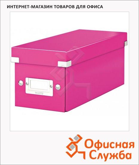 фото: Короб для CD/DVD Leitz Click & Store WOW розовый глянцевый на 30/60/160 дисков, 60410023