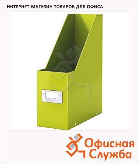 Накопитель вертикальный для бумаг Leitz Click&Store Wow А4, 103мм, зеленый, 60470064