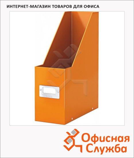 Накопитель вертикальный для бумаг Leitz Click&Store Wow А4, 103мм, оранжевый, 60470044