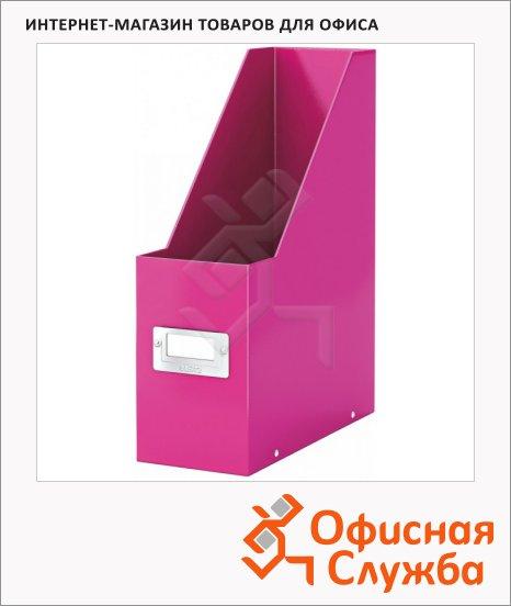 фото: Накопитель вертикальный для бумаг Click&Store Wow А4 103мм, розовый, 60470023