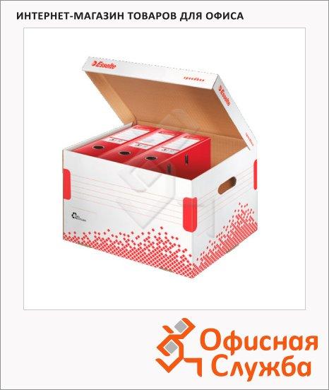 Архивный короб Esselte Speedbox Fast-Assembly бело-красный, для регистрации, 623914