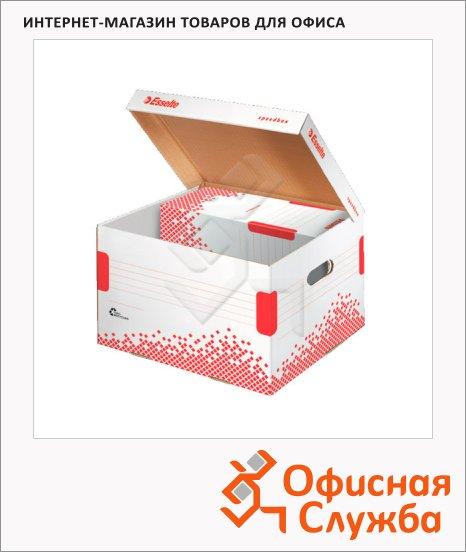 Архивный короб Esselte Speedbox Fast-Assembly бело-красный, средний, 623912