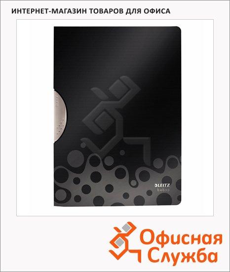 Пластиковая папка с клипом Leitz Bebop черная, А4, до 30 листов, 41830095
