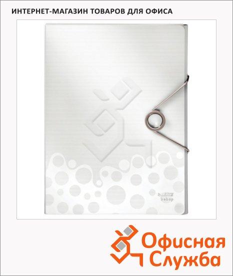 Пластиковая папка на резинке Leitz Bebop белая, A4, до 250 листов, 45680001