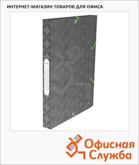 Пластиковая папка на резинке Leitz Retro Chic серая, A4, до 250 листов, 45180089