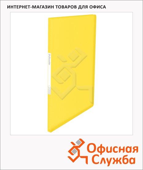 Папка файловая Esselte Vivida желтая, A4, на 20 файлов, 623995