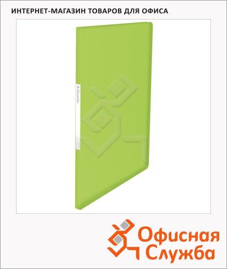 фото: Папка файловая Esselte Vivida зеленая А4, на 40 файлов, 624001